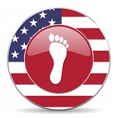 image of webbed feet white  - foot american icon original modern design for web and mobile app on white background  - JPG