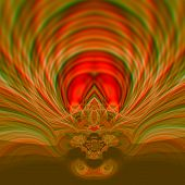 stock photo of psychedelic  - Beautiful psychedelic art illustration design - JPG