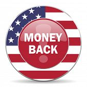 stock photo of american money  - money back american icon original modern design for web and mobile app on white background  - JPG