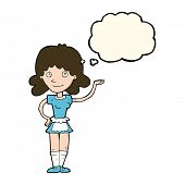 image of maids  - cartoon maid with thought bubble - JPG