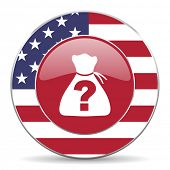 stock photo of riddles  - riddle american icon original modern design for web and mobile app on white background  - JPG