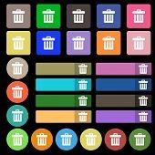 foto of recycle bin  - Recycle bin icon sign - JPG