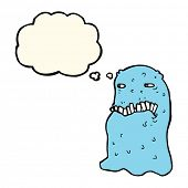 pic of grossed out  - cartoon gross ghost with thought bubble - JPG
