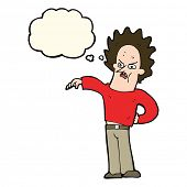 picture of nasty  - cartoon nasty boy with thought bubble - JPG
