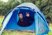 picture of waving hands  - camping - JPG