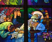 Alfons Mucha window, St. Vitus Cathedral