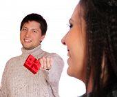 Portrait of a Valentines couple