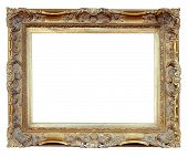 Vintage Frame over white Background (mit Clipping Path)