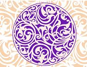 Celtic patterns with flower designs in a circle