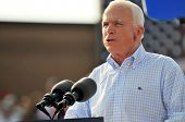 O'FALLON - AUGUST 31: Senator McCain talks to a crown at a rally in O'Fallon near St. Louis, MO on A