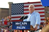 O'FALLON - AUGUST 31: Senator McCain giving speech at rally in O'Fallon near St. Louis, MO on August