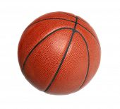 Basketball isolated over white background