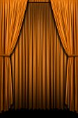 Golden curtain in vertical format