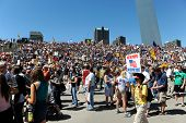 SAINT LOUIS, MISSOURI - SEPTEMBER 12: Rally of the Tea Party Patriots in Downtown Saint Louis under