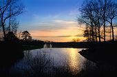 stock photo of knoxville tennessee  - Sunset at Victor Ashe Park Knoxville Tennessee - JPG