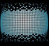 orb de pixels azuis