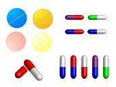 illustration of medical pills