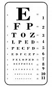 eye chart vector illustration
