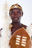 afrikanischen Stammesangehörigen Closeup portrait