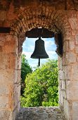 Bell in old colonial church