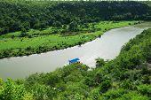 Tropical river Chavon in Dominican Republic