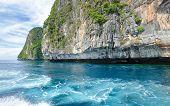 Beautiful lagoon at  Phi Phi Ley island in Thailand