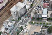Cityscape of Umeda district. Osaka, Japan.