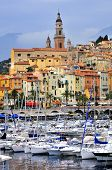 Port of Menton in France