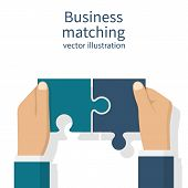 Business Matching Concept. poster