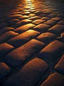 Cobbled Sunset
