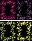 Floral Decorative Frames V5