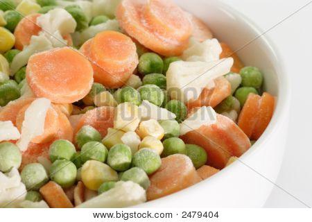 Постер, плакат: Овощи замороженные, холст на подрамнике