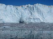 Calving glacier Eqi, Greenland.