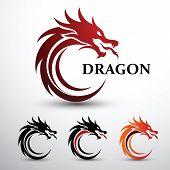 Dragon Head Vector poster