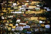image of castello brown  - Close up vintage brick wall in Verona - JPG