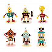 cute robots set