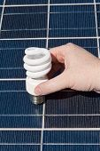 Hand Compact Fluorescent Light Bulbs Solar Panel