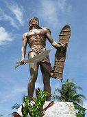 foto of cebu  - Monument of a Filipino chieftain Lapu - JPG