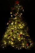 Christmas Tree With Red Star
