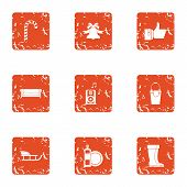 Stay Cool Icons Set. Grunge Set Of 9 Stay Cool Vector Icons For Web Isolated On White Background poster