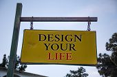 Handwriting Text Design Your Life. Concept Meaning Set Plans Life Goals Dreams Take Control To Do Li poster