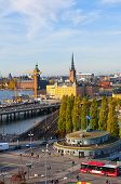 Stockholm, Sweden. View of Gamla Stan (the Old Town)