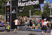 Maratón corrido la carrera