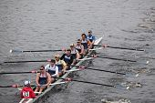 Penn Athletic Club Rowing races in the Head of Charles Regatta