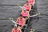 Princeton University races in the Head of Charles Regatta