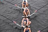 Columbia University races in the Head of Charles Regatta