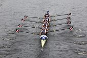 Seeclub University of Zurich races in the Head of Charles Regatta