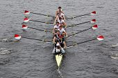 Boston University races in the Head of Charles Regatta