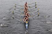 Michigan races in the Head of Charles Regatta