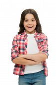 I Am So Pleased. Kid Happy Loves Pleasant Surprises. Girl Curly Hairstyle Adorable Wondering Face. C poster
